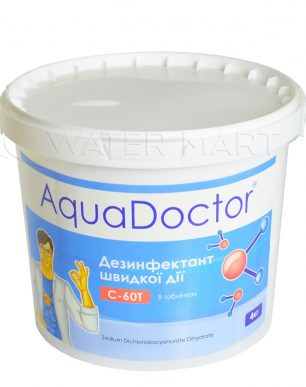 ХЛОР ШОК AQUADOCTOR STABILISED CHLORINE (ТАБЛЕТКИ 20 Г) — 4 КГ