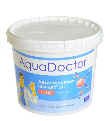 ХЛОР ШОК AQUADOCTOR STABILISED CHLORINE (ТАБЛЕТКИ 20 Г) – 4 КГ