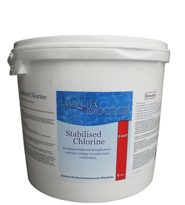 ХЛОР ШОК AQUADOCTOR STABILISED CHLORINE (ТАБЛЕТКИ 20 Г) – 5 КГ